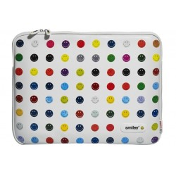 "FOLDER MACBOOK AIR 11"" SMILEY DOTS"