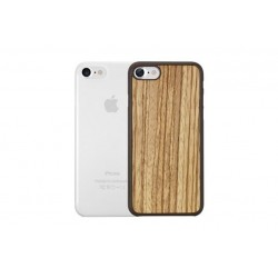 OZAKI 2IN1 JELLY + WOOD - IPHONE 7/8/SE \\ SET DA 2 CUSTODIE (0,3MM + CUSTODIA RIGIDA) - ZEBRANO
