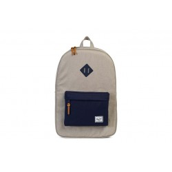 "Herschel Heritage Backpack \ Zaino con tasca notebook 15"" - 21,5L - Light khaki crosshatch"