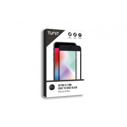 Tunit Edge to Edge Glass - iPhone 8 Plus \\ Vetro protettivo 0,2mm - Black
