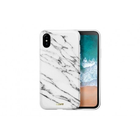 LAUT Heux Elements - iPhone X \\ Custodia effetto marmo - Marble white