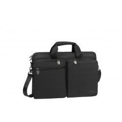 "Rivacase Tiergarten Laptop Bag \ Borsa a tracolla water resistant porta notebook 16"" - Black"