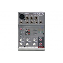 Phonic AM55 \\ Mixer compatto 3 canali