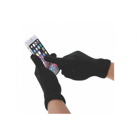 Spase Odyssey Warm Up \\ Guanti Touch - Small - Nero