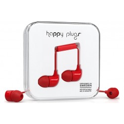 Happy Plugs In-ear \\ Auricolari in-ear - jack 3,5mm - Rosso