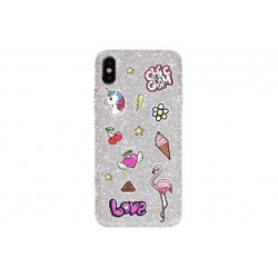 BENJAMINS CHIC - IPHONE 6/6S/7/8/SE \\ SOFT CASE CON STICKER IN RILIEVO