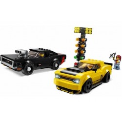 LEGO 2018 Dodge Challenger SRT Demon/1970 Dodge Charger R/T \\ Gioco costruibile
