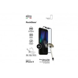 Aiino RockGlass Fullscreen con RockApplicator - iPhone X/Xs/11 Pro \\ Vetro protettivo con applicatore