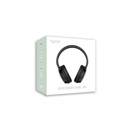 Tunit Comfort Sound ANC \\ Cuffie over-ear - Bluetooth - Nero