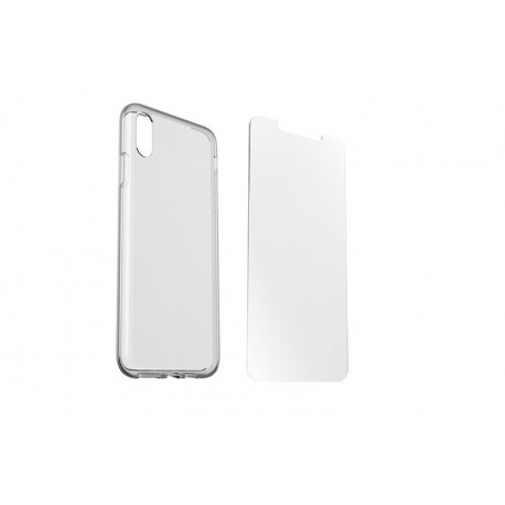 OtterBox Pack 360 Clearly Protected Skin - iPhone Xs Max - CONFEZIONE ROVINATA\\ Trasparente