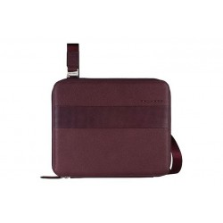 Porta iPad mini con zip - linea Galileo \\ Viola in pelle