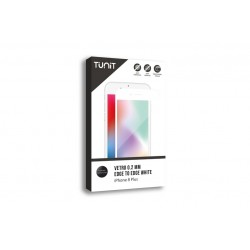 Tunit Edge to Edge Glass - iPhone 8 Plus \\ Vetro protettivo 0,2mm - White